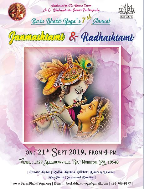 Annual Janmashtami Radhashtami Celebration - Come and Explore Divinity With-in and With-out